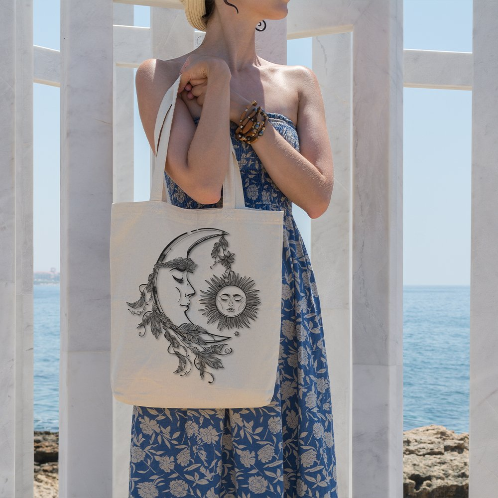 Angemiel Bag Ay'ın Solar Coexistence With Shopping Beach Tote Bag