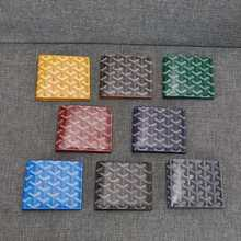 Alta qualidade goyard nova carteira de couro genuíno carteira masculina e feminina com couro curto meia dobra carteira masculina