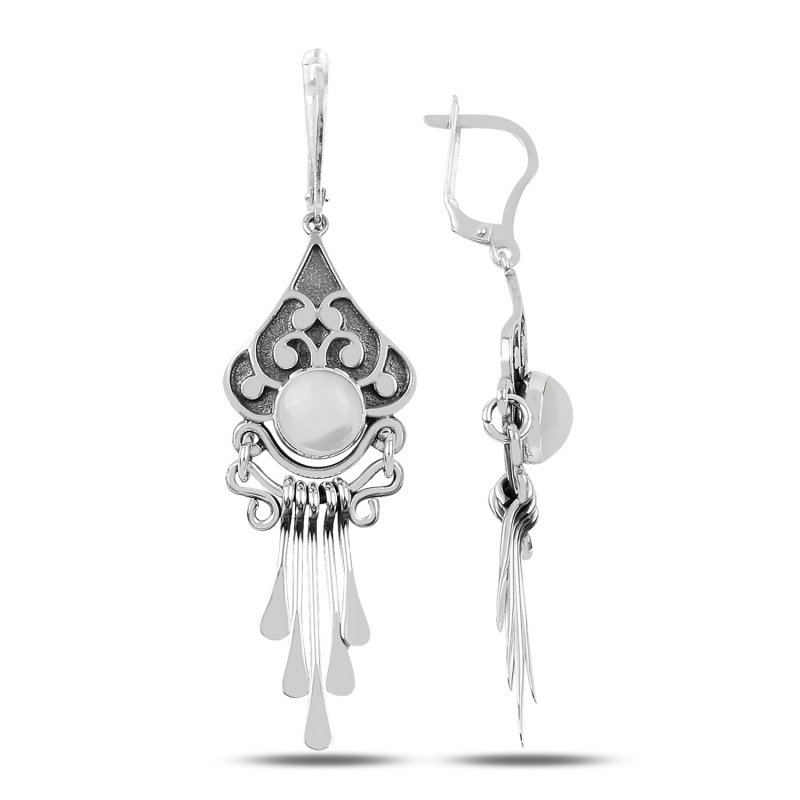 Armagano Pearl Cubic Zirconia and Shaking Hand Handwork Earrings