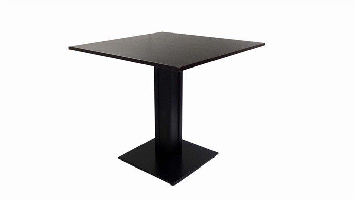Table DART, Metal Base, Lacquered Wegué, 80x80 Cms *