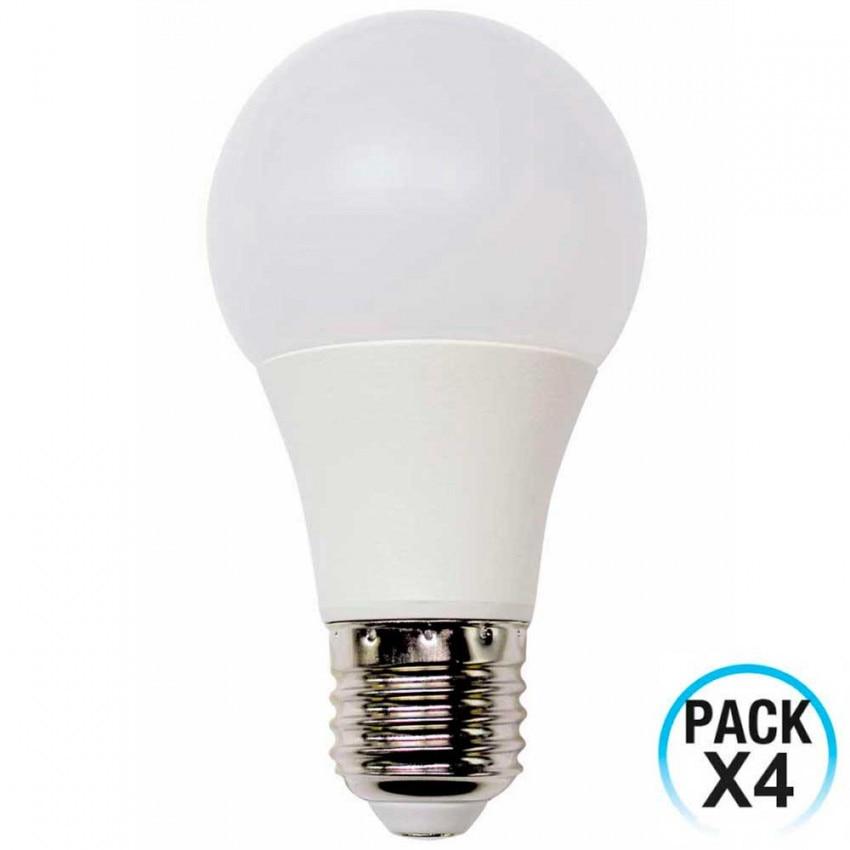 Pack 4 LED Bulbs Standard E27 9W Equi.60W 806lm 10000H ECO