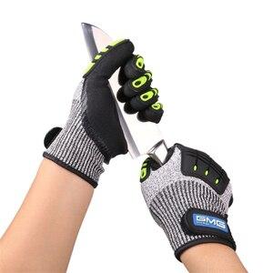 Image 2 - Перчатки с защитой от ударов, вибрационные рабочие перчатки GMG TPR, противоударные амортизирующие ударопрочные перчатки