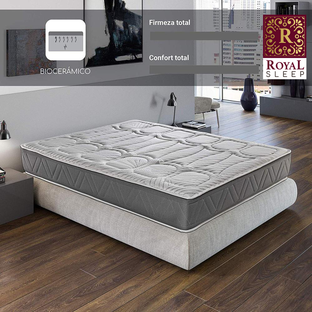 Royal Sleep Ceramic Premium Mattress Visco's Carbono 29CM Total Marriage Bed And Individual Firmness High And Adaptability