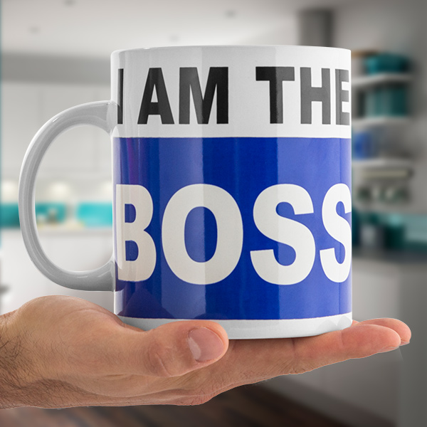 I Am The Boss XL Mug