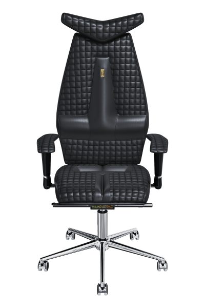 Office Chair KULIK SYSTEM JET Black Computer Chair Relief And Comfort For The Back 5 Zones Control Spine