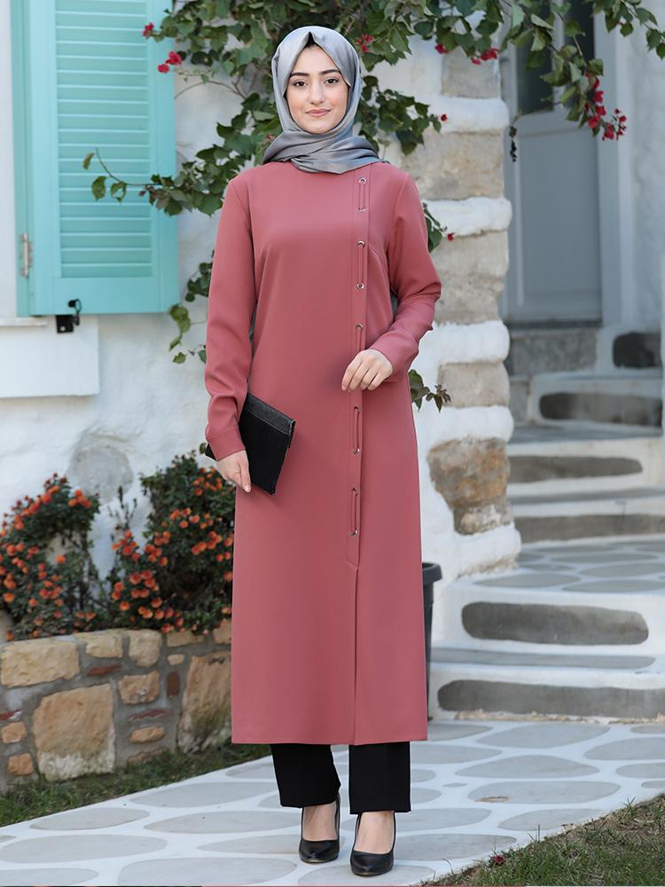 Hijab Suit Womens Clothing New Season Tunic Trousers Combination Crepe Fabric 4 Seasons Islamic Muslim Sets Quality Turkey