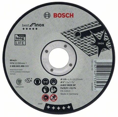 Circle Cutting BOSCH 125х2. 5х22 Best For Inox (2.608.603.505)