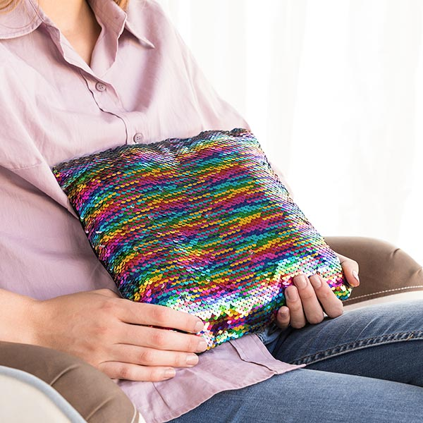 Rainbow Magic Sequin Cushion