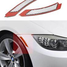 Прозрачный/дым/Amberr/темно-серый/красный объектив переднего бампера Боковой Отражатель для BMW E90/E91 LCI