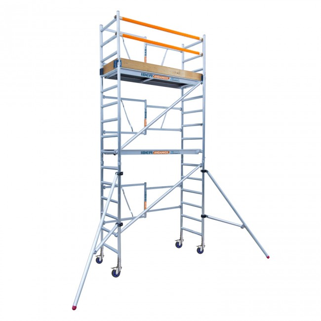 SCAFFOLDING Folding In Aluminum PROFESSIONAL IBER SCAFFOLDING S High Altitude Working 5,70 M