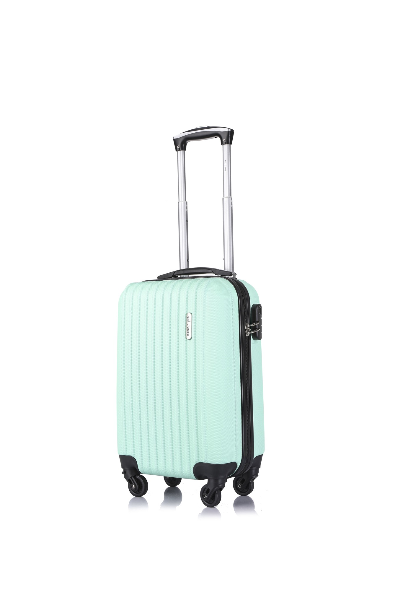 Suitcase Krabi mint suitcase Carry on Luggage Classic travel trip luggage case bag ABS+PC suitcase Travel trolley luggage ABS+PC suitcase Travel trolley luggage business business trip Rolling Luggage     - title=