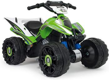 INJUSA - Quad electric Kawasaki ATV 12V licensed with reverse gear and electric brake recommended to children and girls + 2 years injusa garden house of logs the hut multicolor with 2 windows and folding door recommended to children 2 years