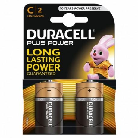 BATTERY DURACELL POWER PLUS C LR14 2KP