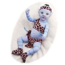Кукла реборн RSG, мягкая полностью силиконовая кукла-младенец, 20 дюймов, с ночным светильник Том, виниловое тело, Реалистичная синяя Кукла-мла...
