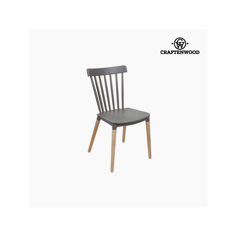 Chair Beech Wood Gray (52x46x84 Cm) By Craftenwood