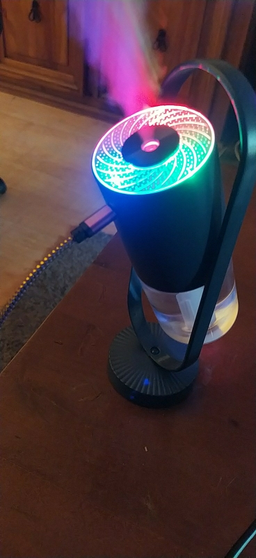 Humidificateur d'air usb 200ml avec LED - Mini purificateur d'air de bureau