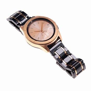 20 22mmCeramic Strap for Samsung Gear S3 Galaxy Watch Active2 LTE 40 42 44 46mm AMAZFIT Watch Bracelet Wrist Strap watchbands