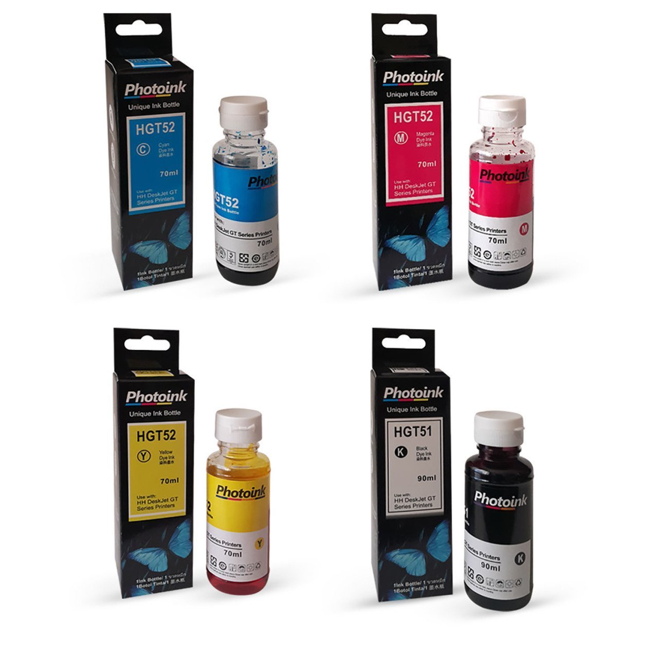 <font><b>HP</b></font> <font><b>deskjet</b></font> <font><b>3639</b></font> 4 color 1 Suit Photoink Ink image