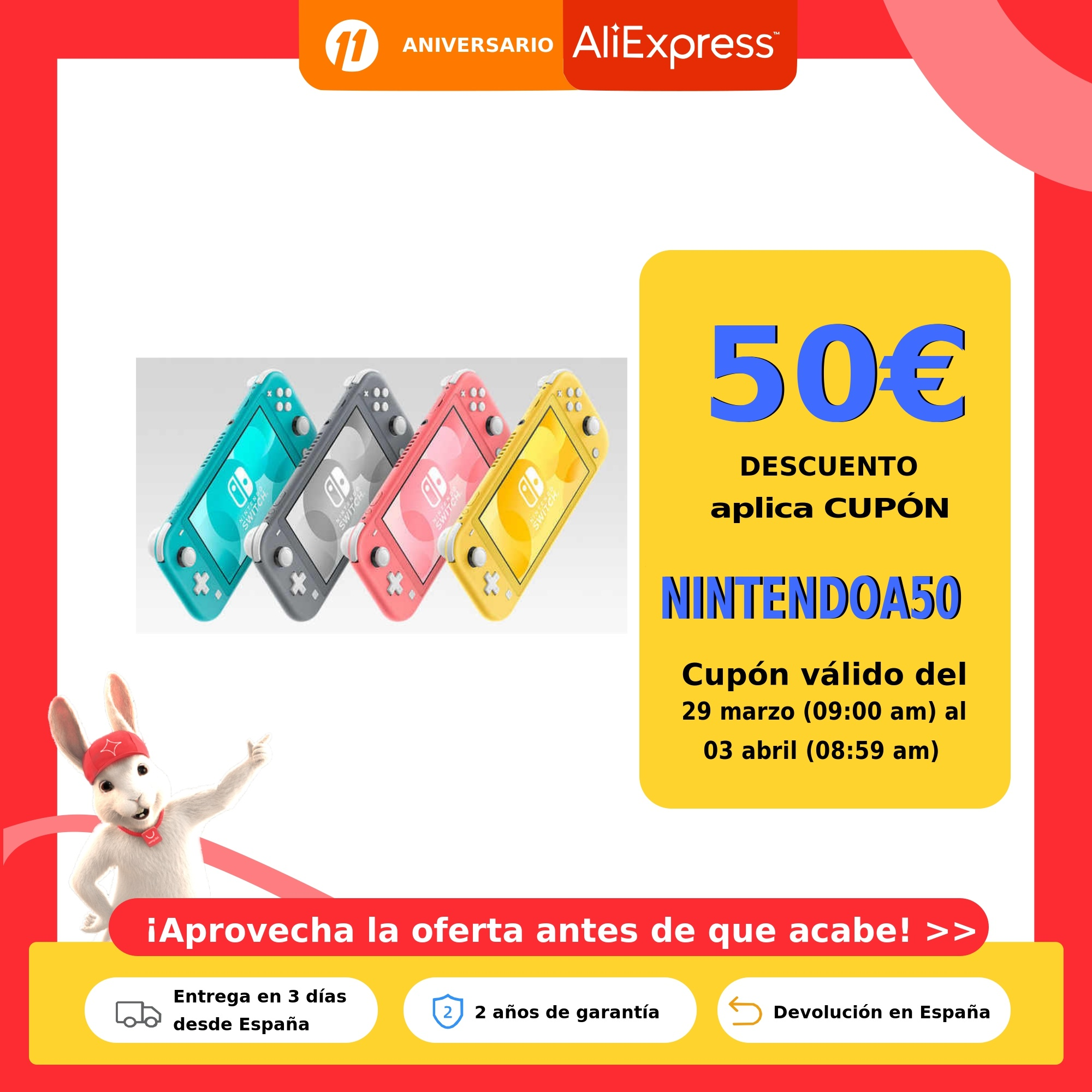 Consola Nintendo Switch Lite. Disponible en 4 colores: Amarillo, Gris, Coral y Azúl Neon. Ligera, con controles integrados. Consolas de videojuegos  - AliExpress