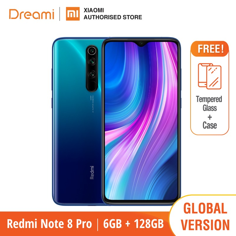 Xiaomi Redmi Note 8 PRO 6GB 128GB 8-Pro Nfc Quick Charge 3.0 Bluetooth 5.0 Octa Core