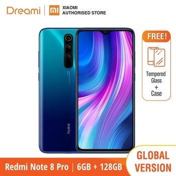 Перейти на Алиэкспресс и купить Глобальная версия Xiaomi Redmi Note 8 PRO 128 ГБ rom 6 Гб ram (абсолютно новая/запечатанная), note8 pro Мобильный смартфон, телефон, Смартфоны