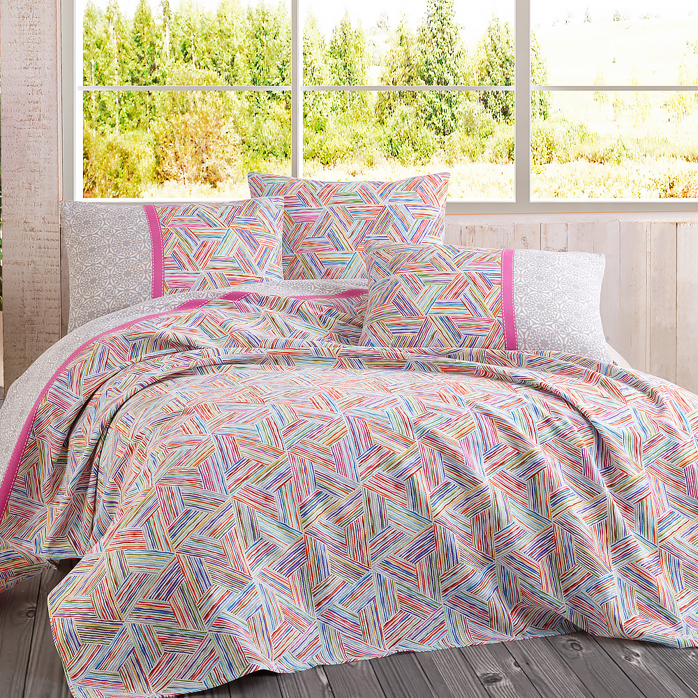 Lady Moda Tribal Luxury Bedspread Cotton Set Ranforce Coverlet Set Full/King Size Pique 1/3/4 pcs Fitted <font><b>Bed</b></font> Sheet Rubber image