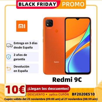 Купить Смартфон Xiaomi Redmi 9C (2 ГБ ОЗУ 32 Гб ПЗУ мобильный телефон free Новый дешевый аккумулятор Android 5000 мАч) [глобальная версия]