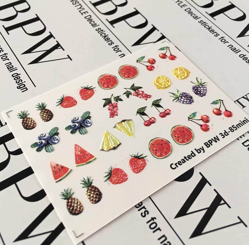 3D Cлайдер-дизайн Fruit, BPW. Style, Water Nail Sticker, 3d85