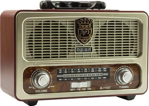 Meier M 111BT Ностальгический Деревянный Ретро fm радио USB SD BLUETOOTH|Радиоприёмники|   | АлиЭкспресс