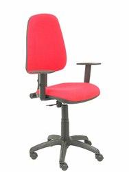 Krzesło biurowe z mechanizmem stały kontakt i regulowana wysokość siedzisko i oparcie tkanina na poduszkę BAL na