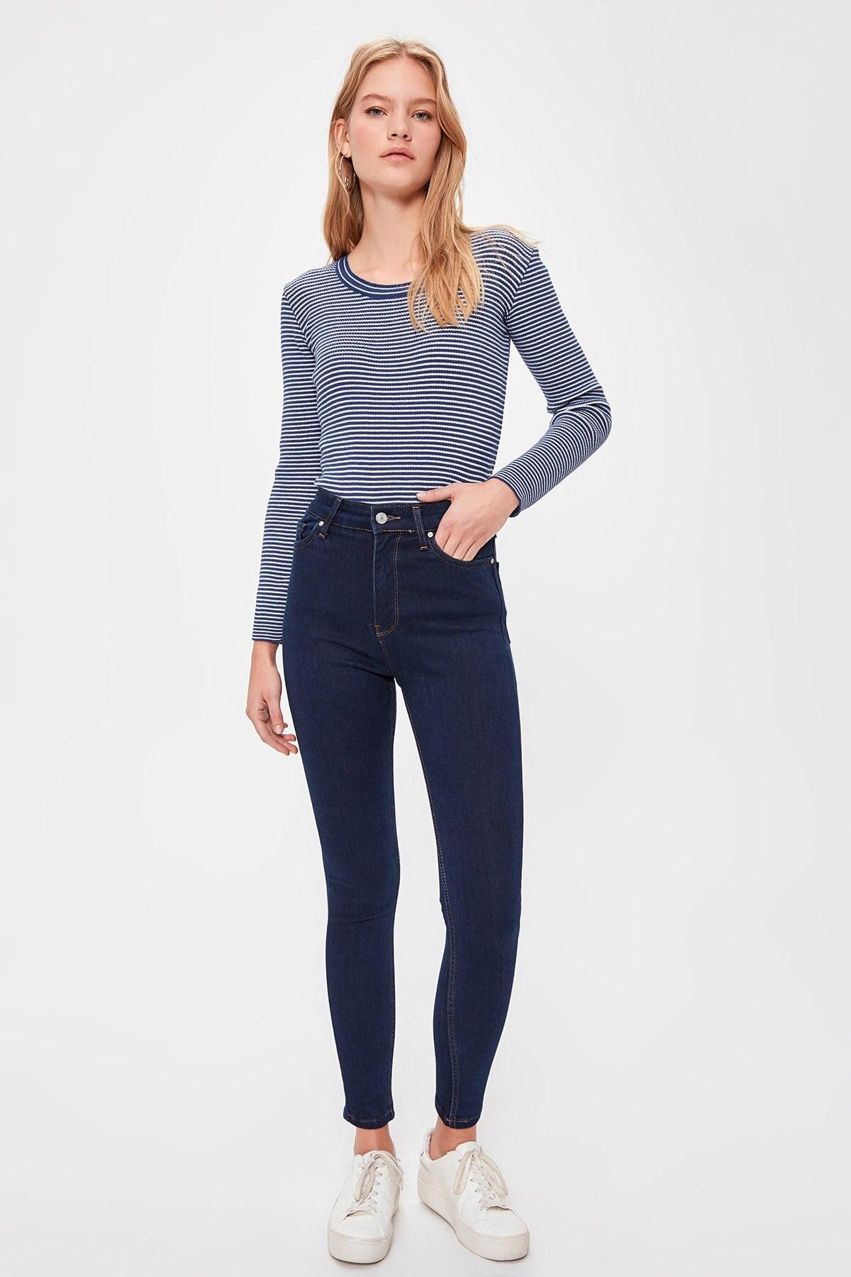 Trendyol High Waist Skinny Jeans TWOAW20JE0315