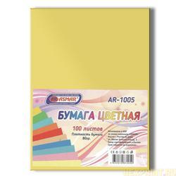 Papier couleur double face teinté A4 100 feuilles (couleur-jaune)