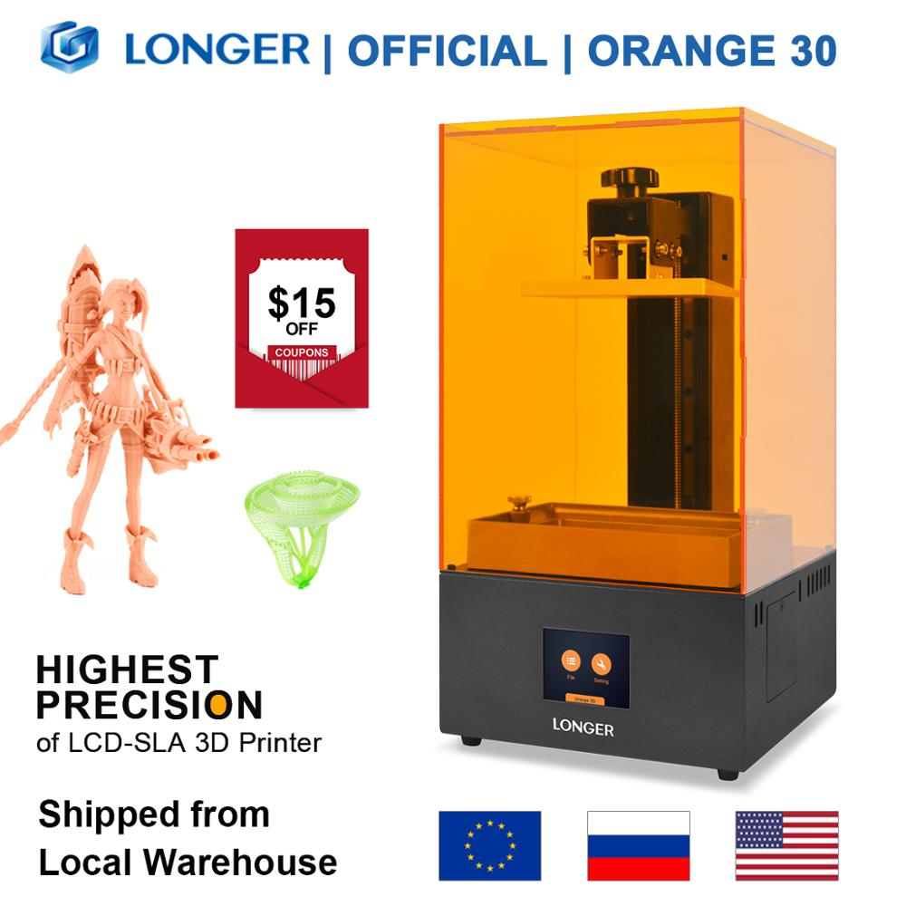 LONGER Orange 30 3D Printer High Precision SLA 3D Printer with 2K LCD Screen Parallel UV LED Lighting 405nm UV Resin Printer