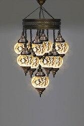 9 Ball biały agd  lampa mozaikowa  lampa z turecką mozaiką  oświetlenie  żyrandol  szkło lampa mozaikowa  lampa wisząca