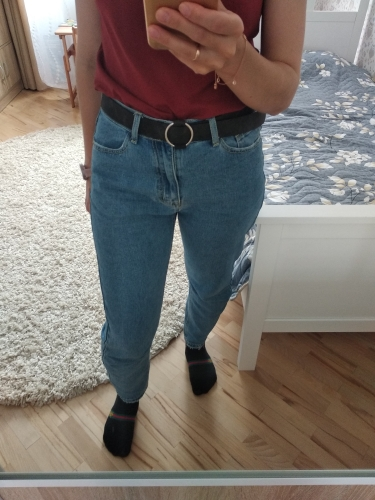 Jean Woman Mom Jeans Pants Boyfriend Jeans For Women With High Waist Push Up Large Size Ladies Jeans Denim photo review