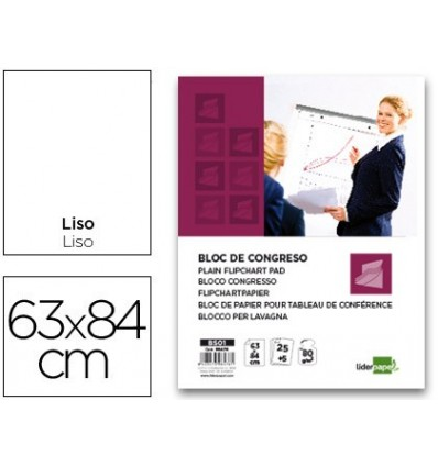 NOTEPAD CONGRESS LIDERPAPEL SMOOTH 63X84CM 25 + 5 SHEETS 80G/M2