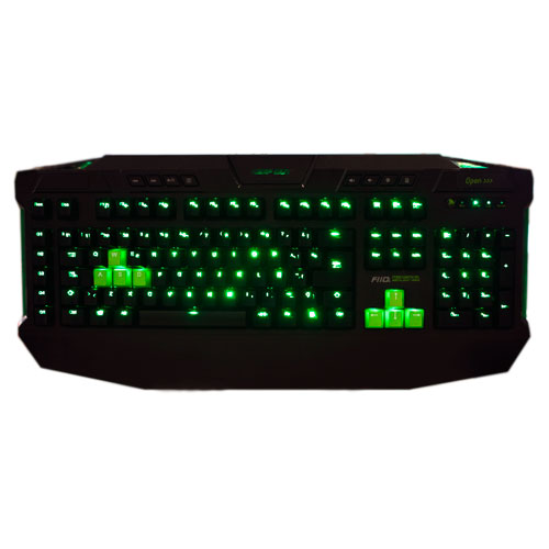 Gaming Keyboard Keep Out <font><b>F110s</b></font> Backlit USB 5 Tecl. Programmable Cable Nylon 3 Profiles Pers. image