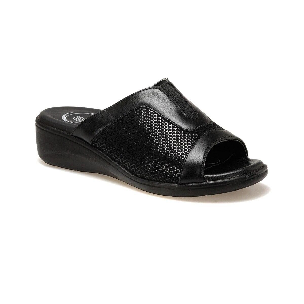 FLO 92.4M0003.Z Black Female Slippers Polaris 5 Point