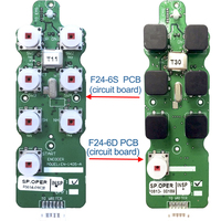 Telecontrol industrial 6 llaves grúa inalámbrica de control remoto F24-6S F24-6D Transmisor Emisor PCB o CPU placa de circuito