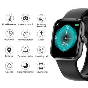 Image 3 - RUNDOING NY17 Reloj inteligente con pantalla táctil completa con caja de aleación de aluminio IP68 impermeable rosa para mujer reloj inteligente para Android IOS