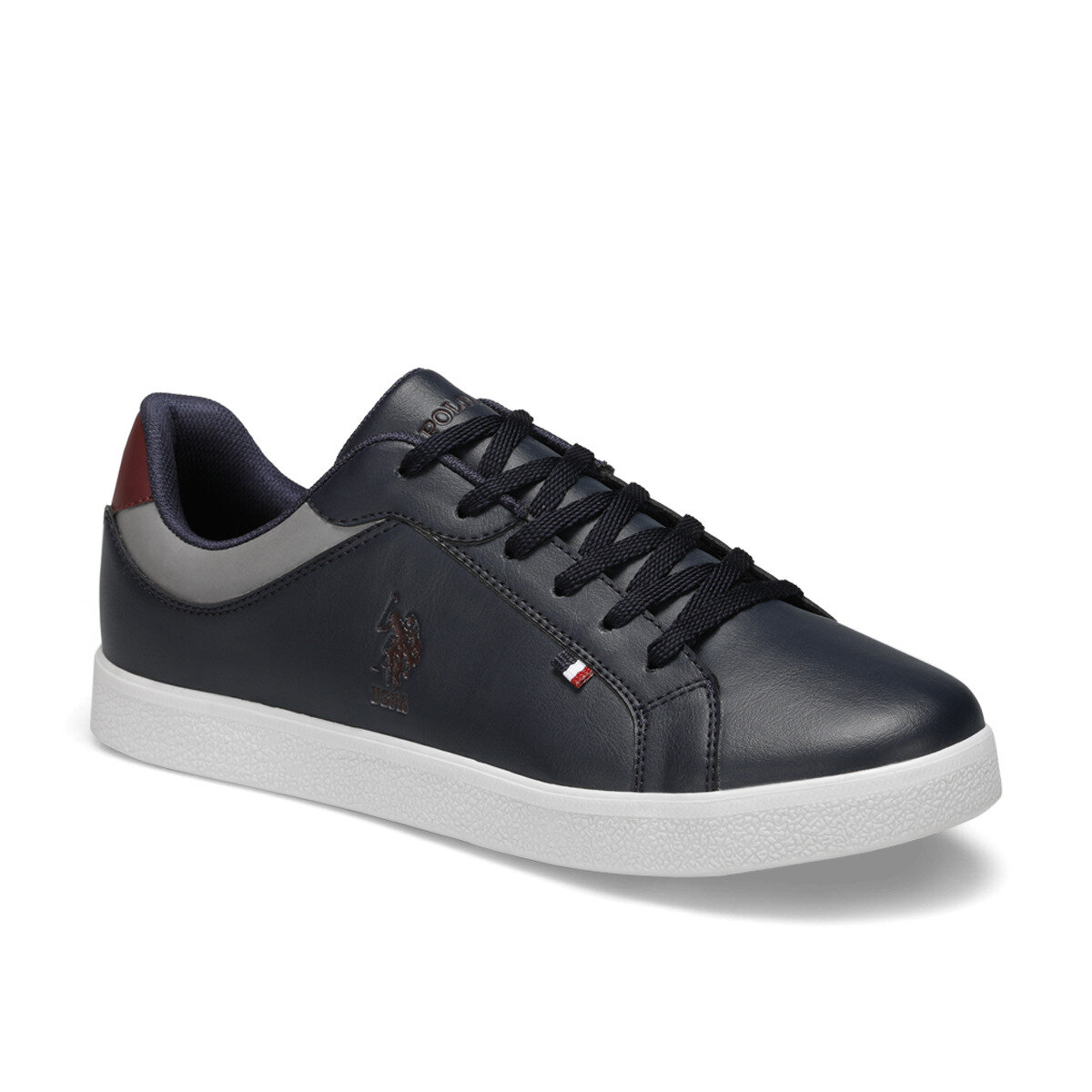 FLO Men's Sneaker Shoes 2020 New Casual Shoes Men Flat Shoes Lace-up Low Top Sneakers Tenis Masculino U.S. POLO ASSN. ARNOLD Navy Blue