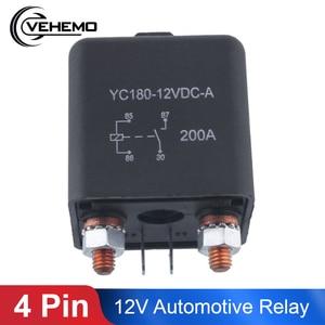 Vehemo 12V 200A Relay 4 Pin For Car Auto Heavy Duty Install Split Chargeover(China)