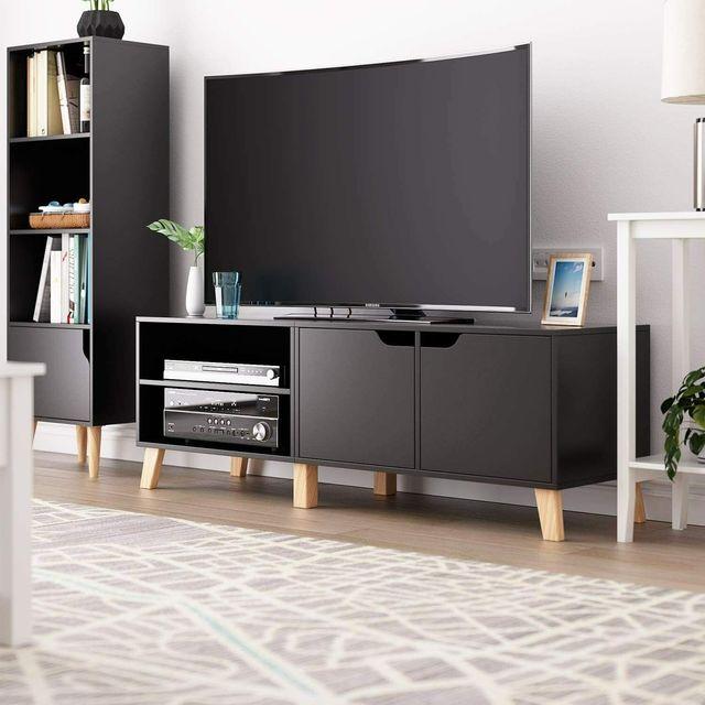 55 inch Modern TV Stand Console Center w/ Storage Cabinet  3