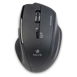 Optical Wireless Mouse NGS SPY-RB 1600 dpi Black