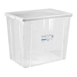 Pudełko z pokrywką Tontarelli 80 L przezroczyste (59X39x48 cm)