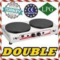 Антипригарное тефлоновое покрытие двойные плиты пропан газ двойной 16 ''40 см Коммерческая Блинная сковорода машина Профессиональный
