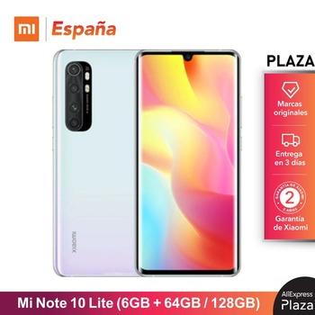 Купить Xiaomi Mi Note 10 Lite (64 Гб/128 ГБ ROM 6 Гб RAM Snapdragon™730G Android Nuevo Móvil) [telefono Versión Global para España] note