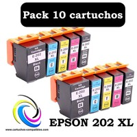 Compatible Epson 202 XL Pack 10 To 202XL XP-6000 XP-6005 XP-6100 XP-6105 XP6000 XP6005 XP6100 XP6105