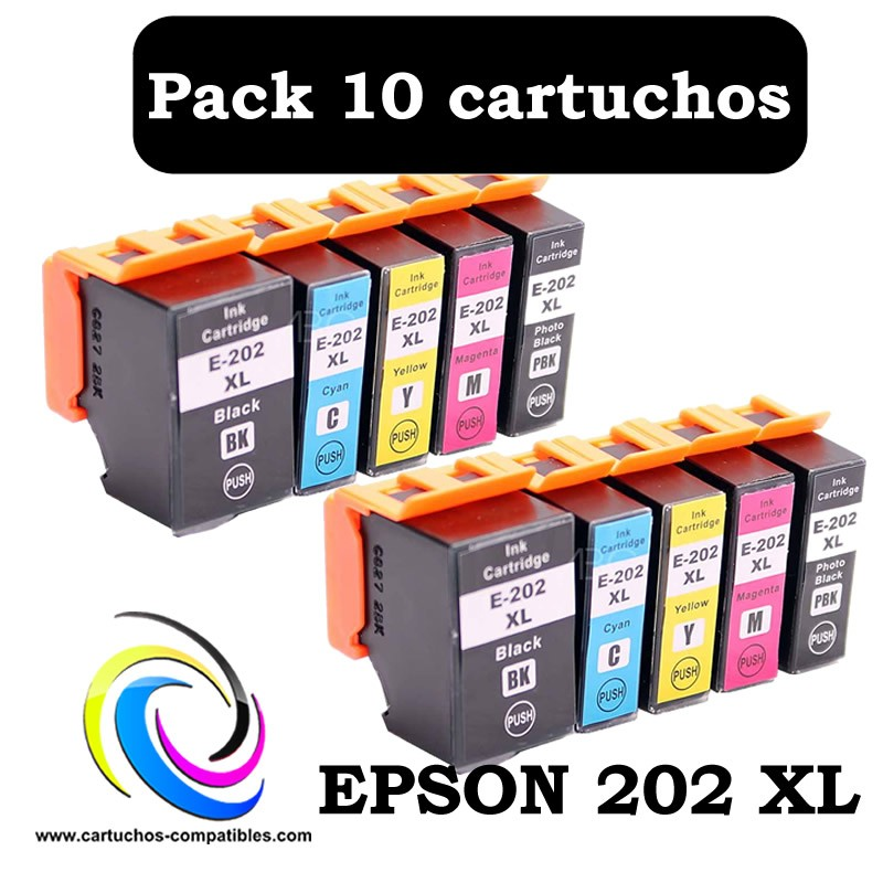 Epson 202 XL Pack 10 compatible 202XL XP 6000 XP 6005 XP 6100 XP 6105 XP6000 XP6005 XP6100 XP6105|Ink Cartridges| |  - title=