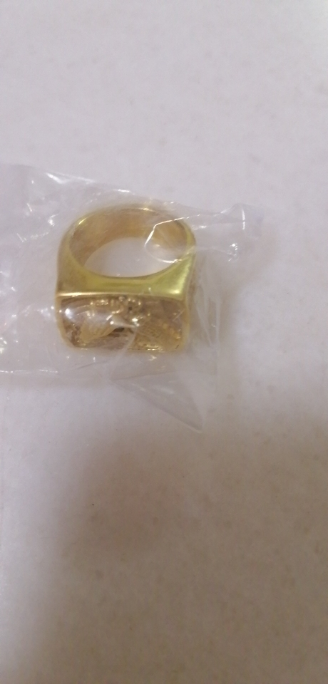 Chevalière homme en titane aigle américain plaqué or
